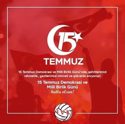 15 Temmuz Demokrasi ve Millî Birlik Gününüz Kutlu Olsun
